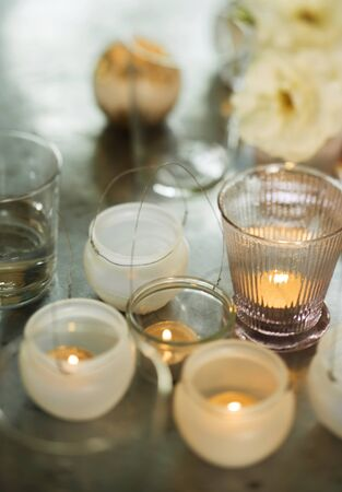 candleholders: Candles in candleholders