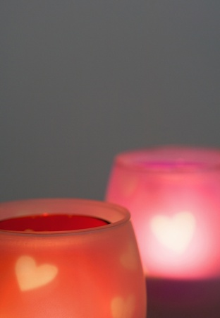 Romantic candles for a romantic dinner or date