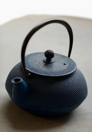 Hand made iron tea pot, very antique photo