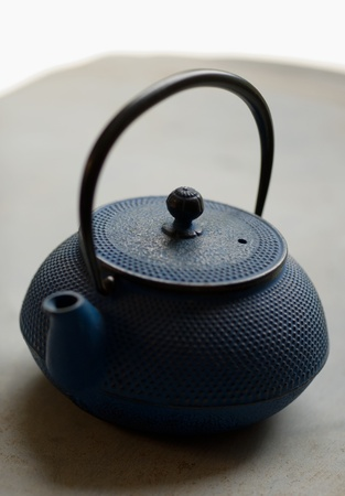 Hand made iron tea pot, very antique