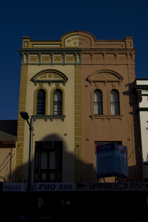 Old colorful renewed facades in Newtown, Sydney.