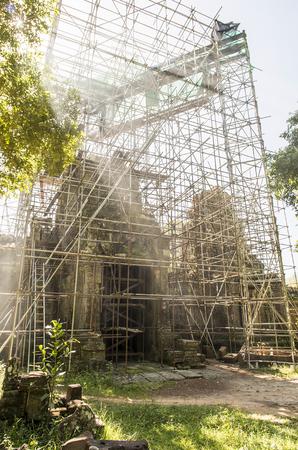 restoration: restoration old temple, Angkor, Cambodia