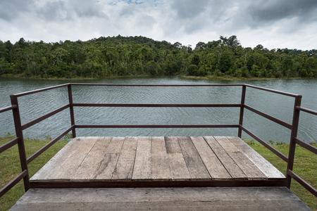 Terrace on khoa yai lake in Thailand