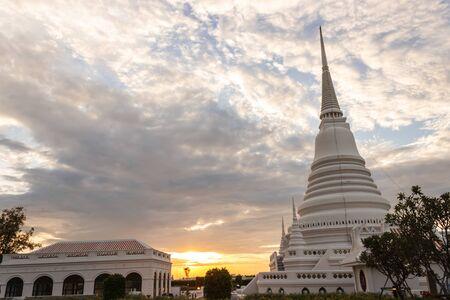 samutprakarn: Sunrise at Phra Samut Chedi, samutprakarn, Thailand Stock Photo