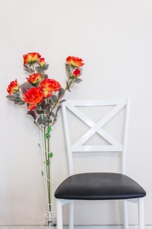 Chair and flower photo
