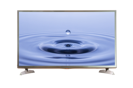 TV screen with clipping path