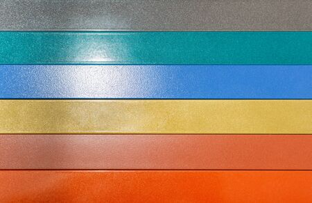 Metal background in rainbow colors