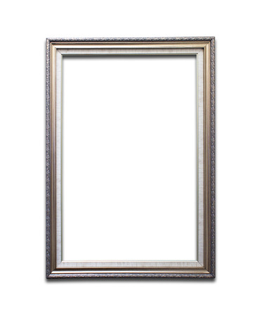 metal frame: Gold picture frames. Isolated on white background