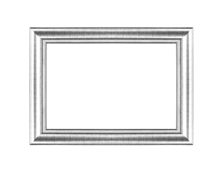 Silver picture frames. Isolated on white background Reklamní fotografie - 23997014