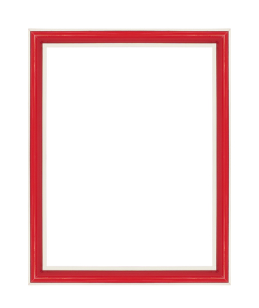 Red picture frame. Isolated on white background photo