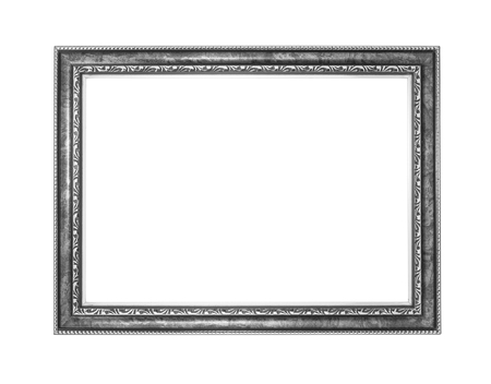 silver picture frame .Isolated on white background Reklamní fotografie - 24127122