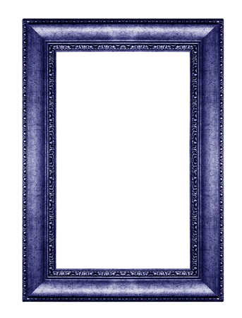 old antique vintage red frames. Isolated on white background