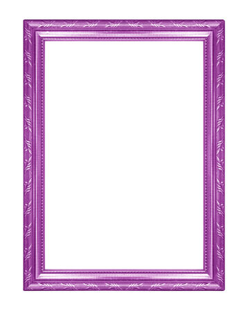 Purple Picture Frames. Isolated On White Background Stock Photo ...