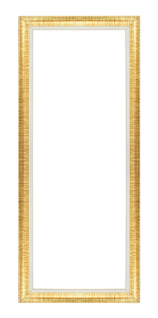 Old green picture frames. Isolated on white background photo