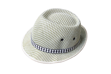 Summer straw hat isolated on white background photo