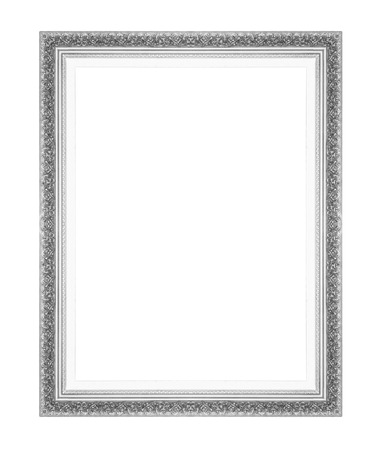 silver picture frames. Isolated on white background Reklamní fotografie - 28200342