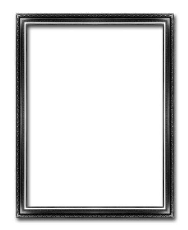 black  picture frames. Isolated on white background