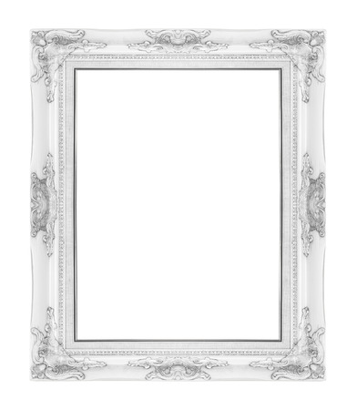 old antique vintage  picture frames. Isolated on white background Archivio Fotografico