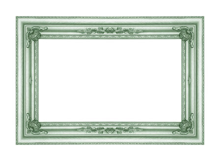 green picture frames. Isolated on white background photo