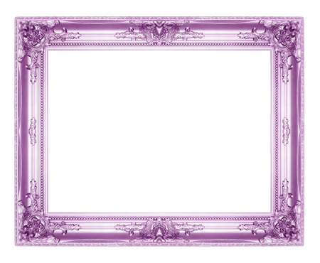 Old Antique Purple Picture Frames. Isolated On White Background ...