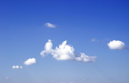 blue sky with cloud and seasonal changes. photo