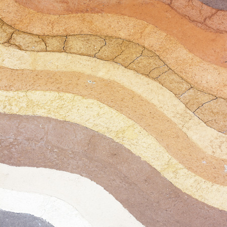 Layer of soil underground background photo