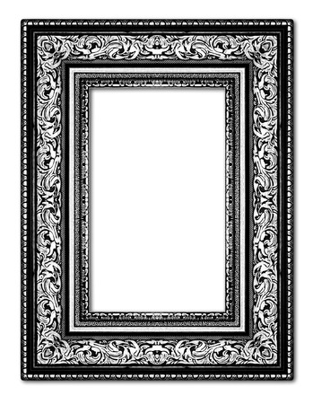 Silver Antique Vintage Picture Frames. Isolated On Black Background ...