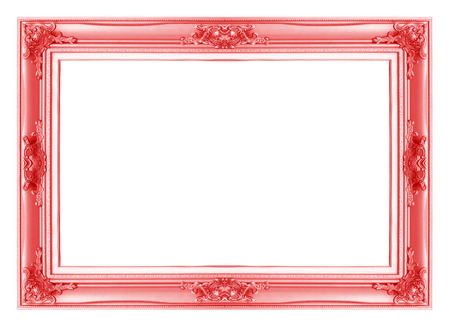 Red Antique Vintage Picture Frames. Isolated On White Background ...