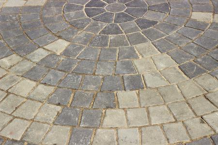 ceske: stone block paving background Stock Photo