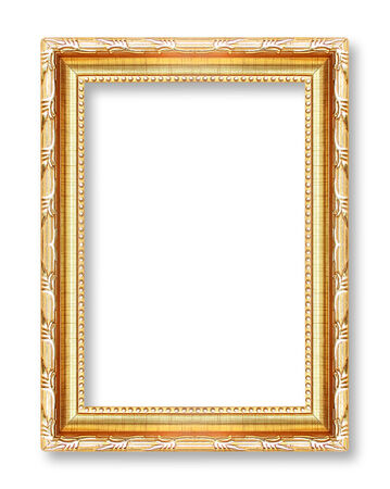 Silver picture frames. Isolated on white background photo