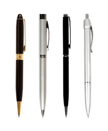 ball pens stationery: l�piz sobre fondo blanco