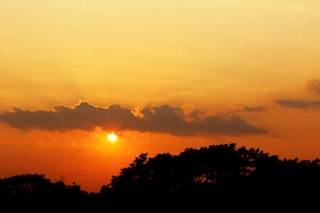 orange sunset: orange sunset Stock Photo
