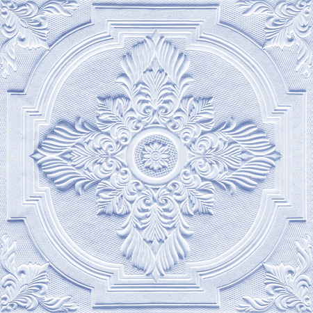 Patterns on the ceiling gypsum sheets photo