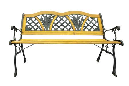 park bench isolated on white background photo