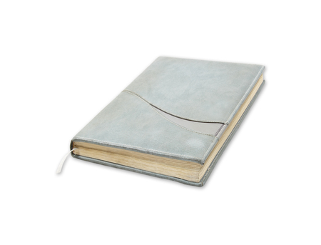 Beautiful old notebook isolated on white background. photo