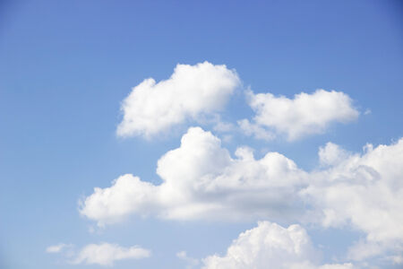 Blue sky and white clouds,Soft white clouds against blue sky photo