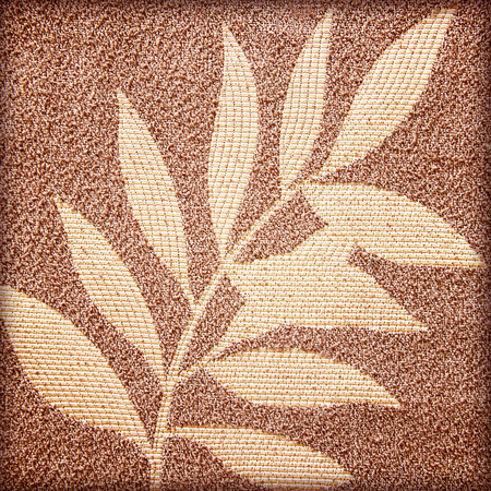 Leaf patterns on the fabric background photo