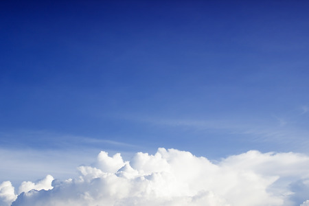Blue sky and white clouds,Fantastic soft white clouds against blue sky