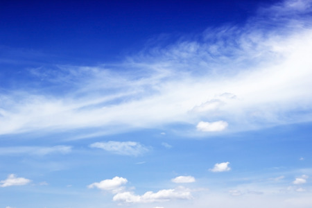 Blue sky and white clouds,Fantastic soft white clouds against blue sky photo