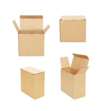 cardboard box, isolated on white background photo