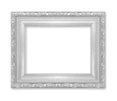 silver picture frame Isolated on white background Reklamní fotografie - 35472357