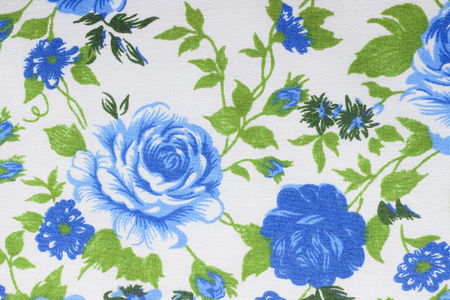 vintage style of tapestry flowers fabric pattern background photo