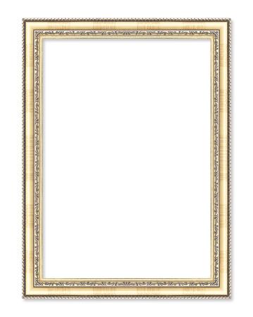 gold frame on the white background Archivio Fotografico