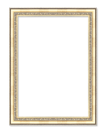 gold frame on the white background Reklamní fotografie - 36563859
