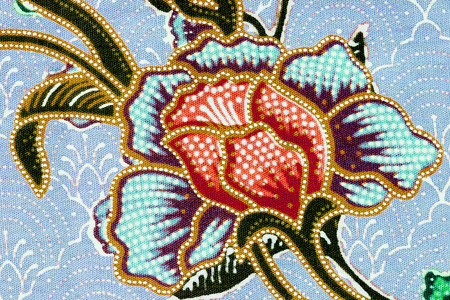 fragmented: vintage style of tapestry flowers fabric pattern background Stock Photo