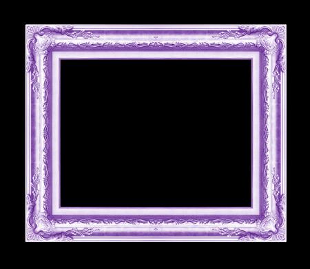 cadre antique: cadre antique isol� sur fond noir, couleur pourpre
