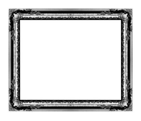cadre antique: cadre antique isol� sur fond blanc, couleur noire