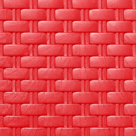 latticework: Plastic weave pattern texture and background; red color Stock Photo