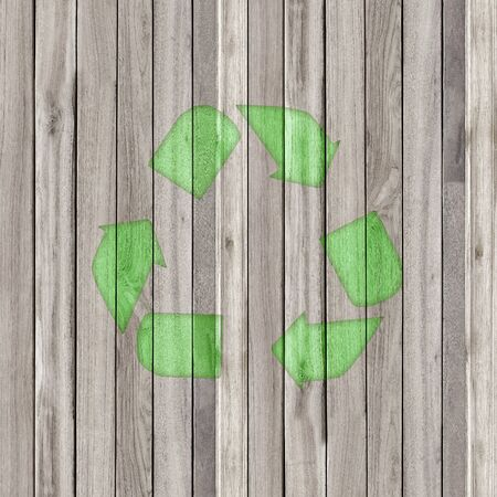 repurpose: Recycle old wood Stock Photo