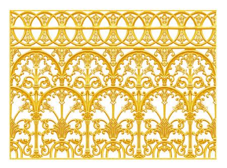 Ornament elementen, vintage gouden bloemmotieven